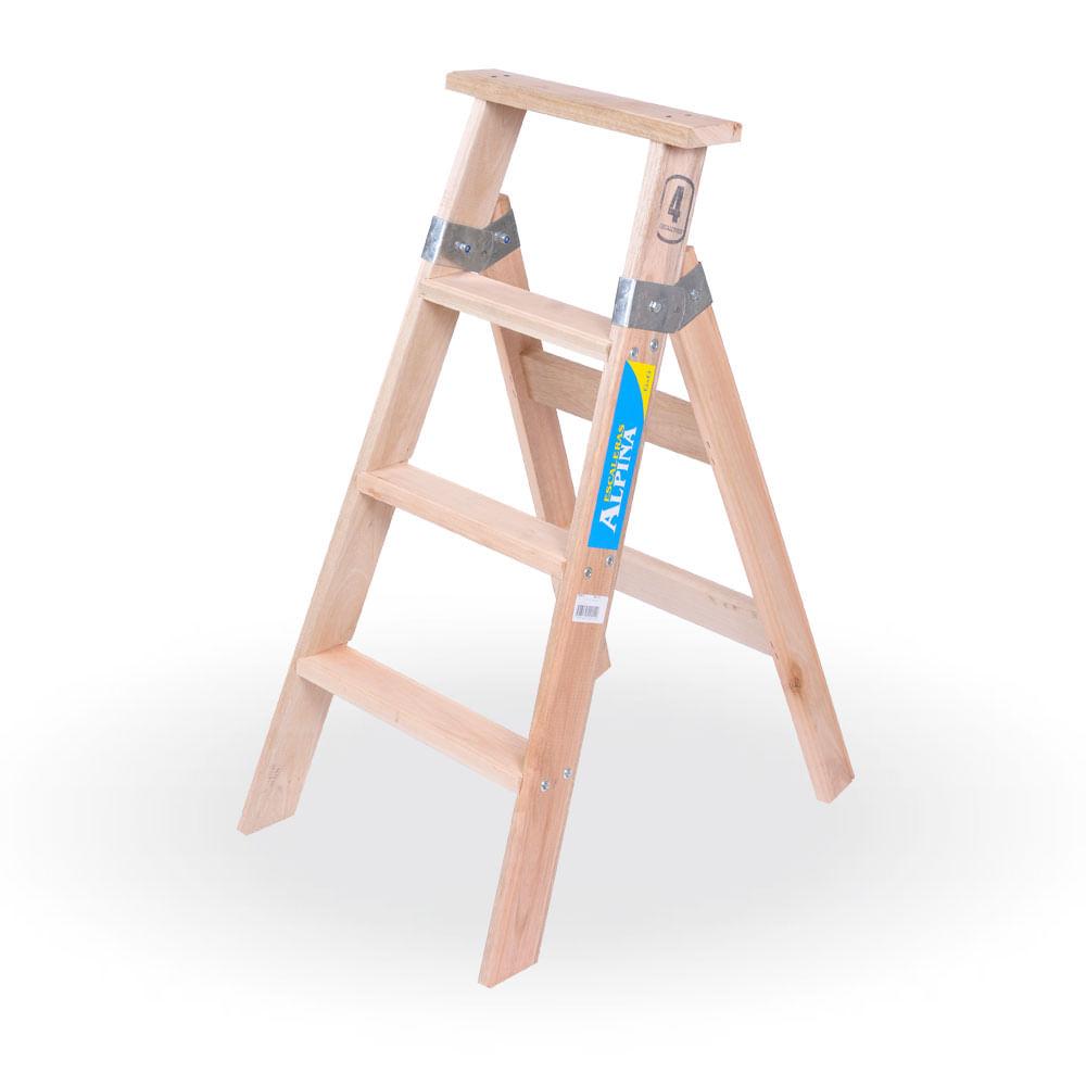Escalera familiar de madera prestigio prestigioweb - Escaleras de madera pintor ...