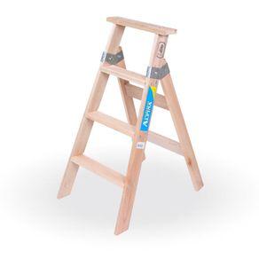 Escalera de pintor de madera prestigio prestigioweb for Escaleras de madera para pintor precios