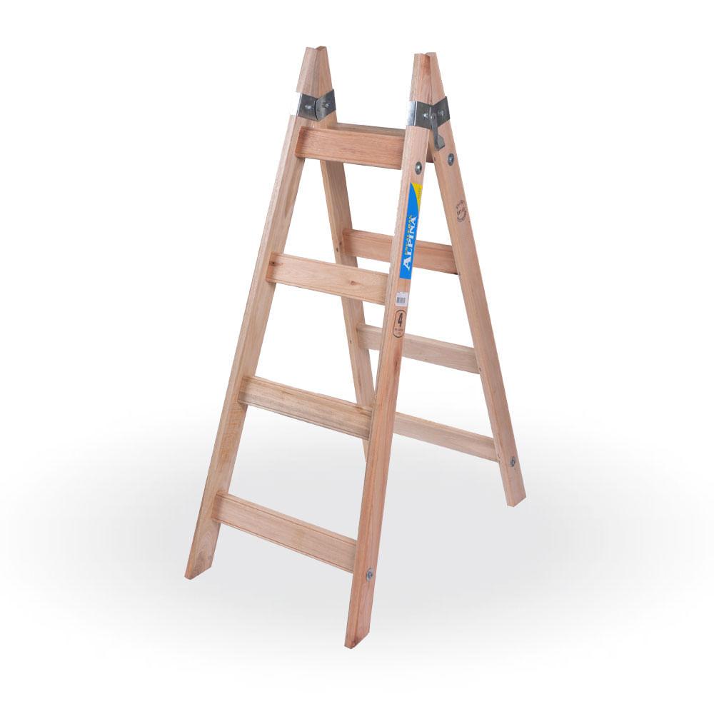 Escalera de pintor de madera prestigio prestigioweb for Madera para escaleras