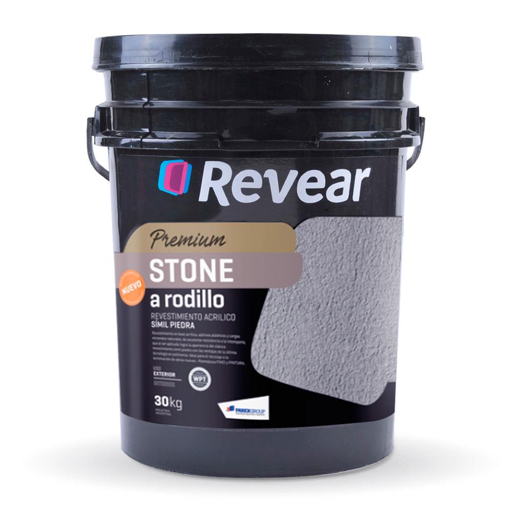 Stone a rodillo revestimiento acr lico revear prestigio - Revestimientos de fachadas precios ...