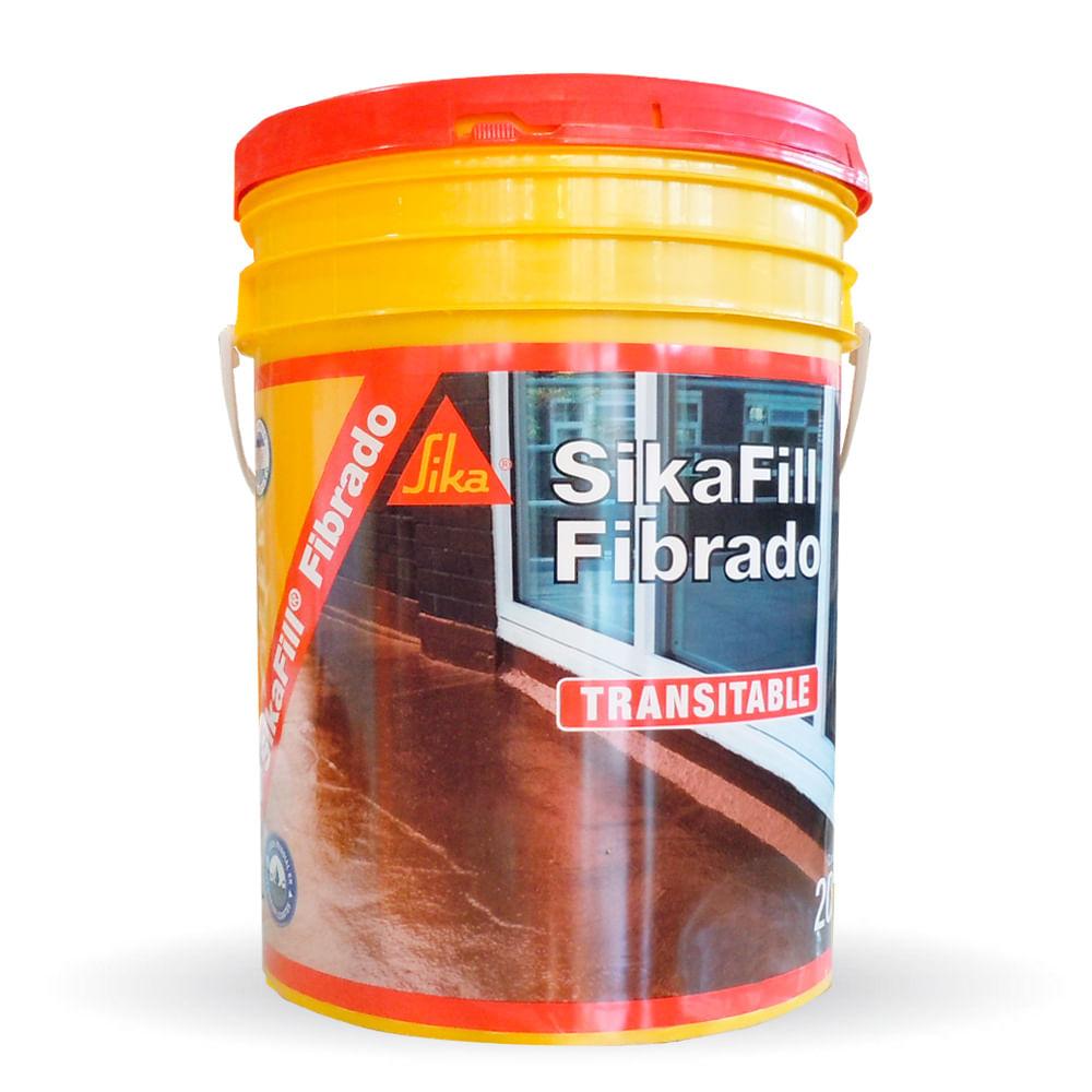 Sikafill fibrado impermeabilizante para techos sika for Pintura impermeabilizante sika