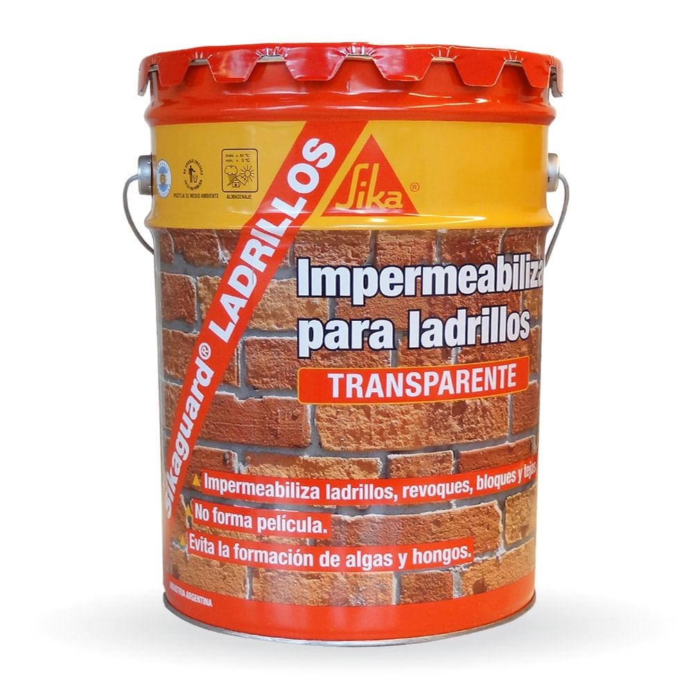 Sikaguard ladrillos impermeabilizante incoloro sika x 20 for Pintura impermeabilizante sika