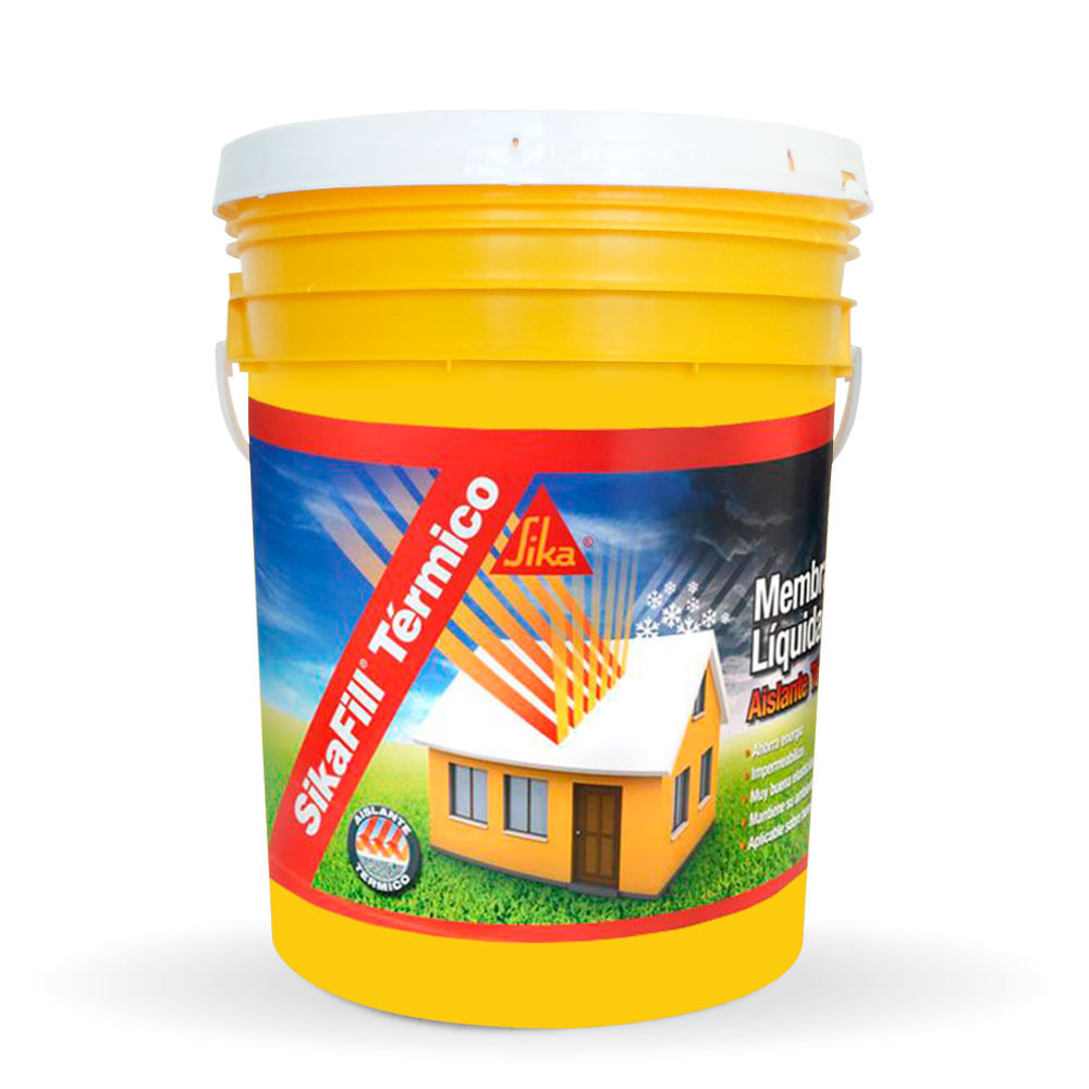 sikafill térmico 3 en 1 impermeabilizante para techos 20 kg